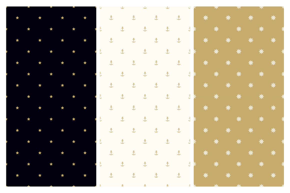 Vector seamless minimal patterns example image 6