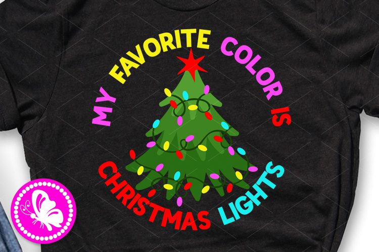 My favorite color is Christmas lights Xmas tree Garland example image 1