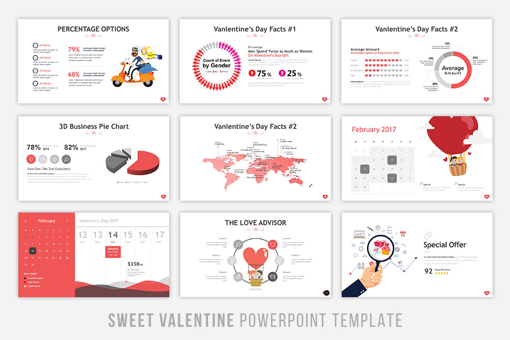 Sweet Valentine Powerpoint Template example image 6