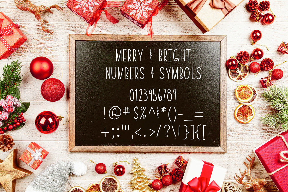 Merry & Bright All Caps Font example image 2