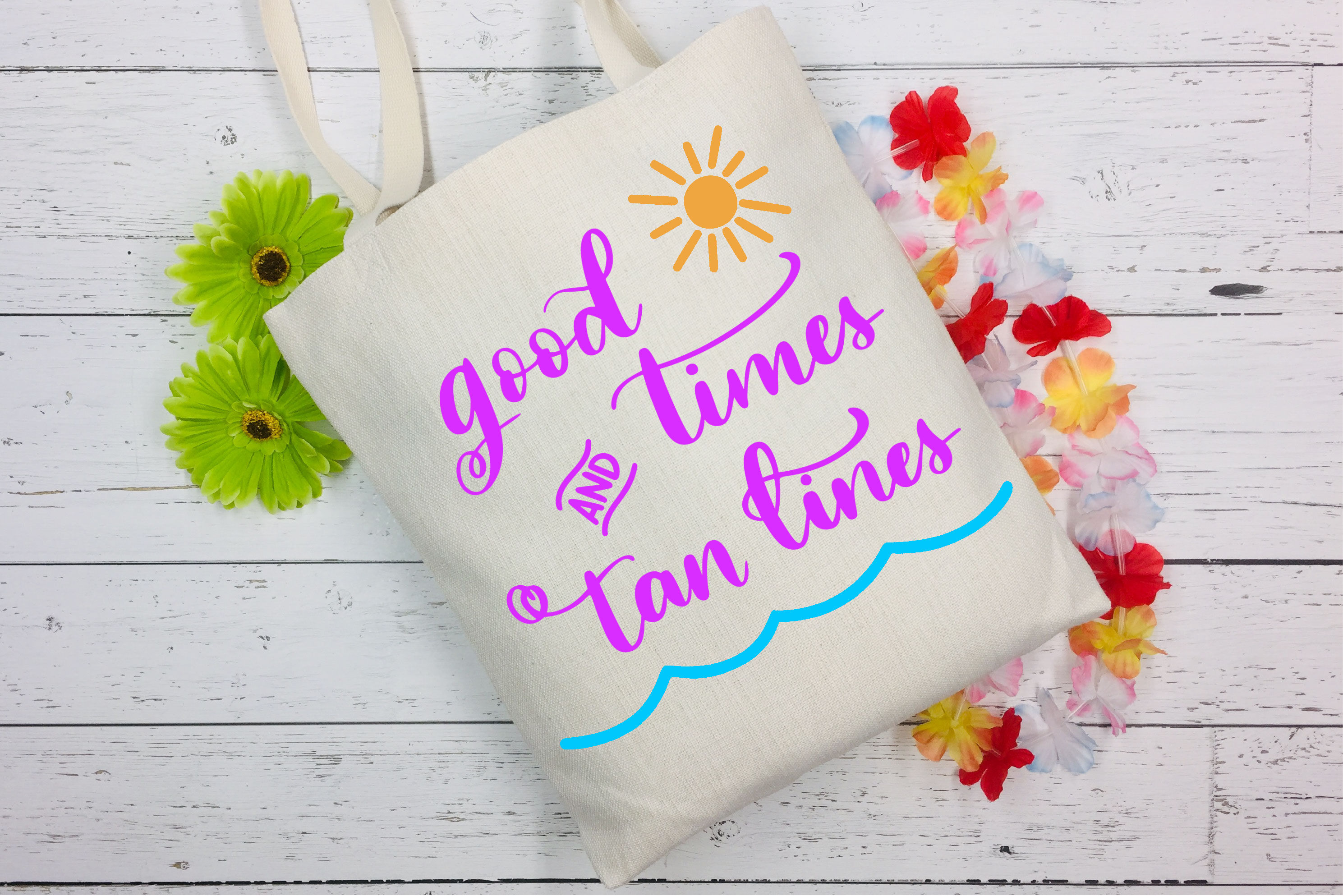 Good Times and Tan Lines SVG - Summer SVG - Vacation SVG example image 2