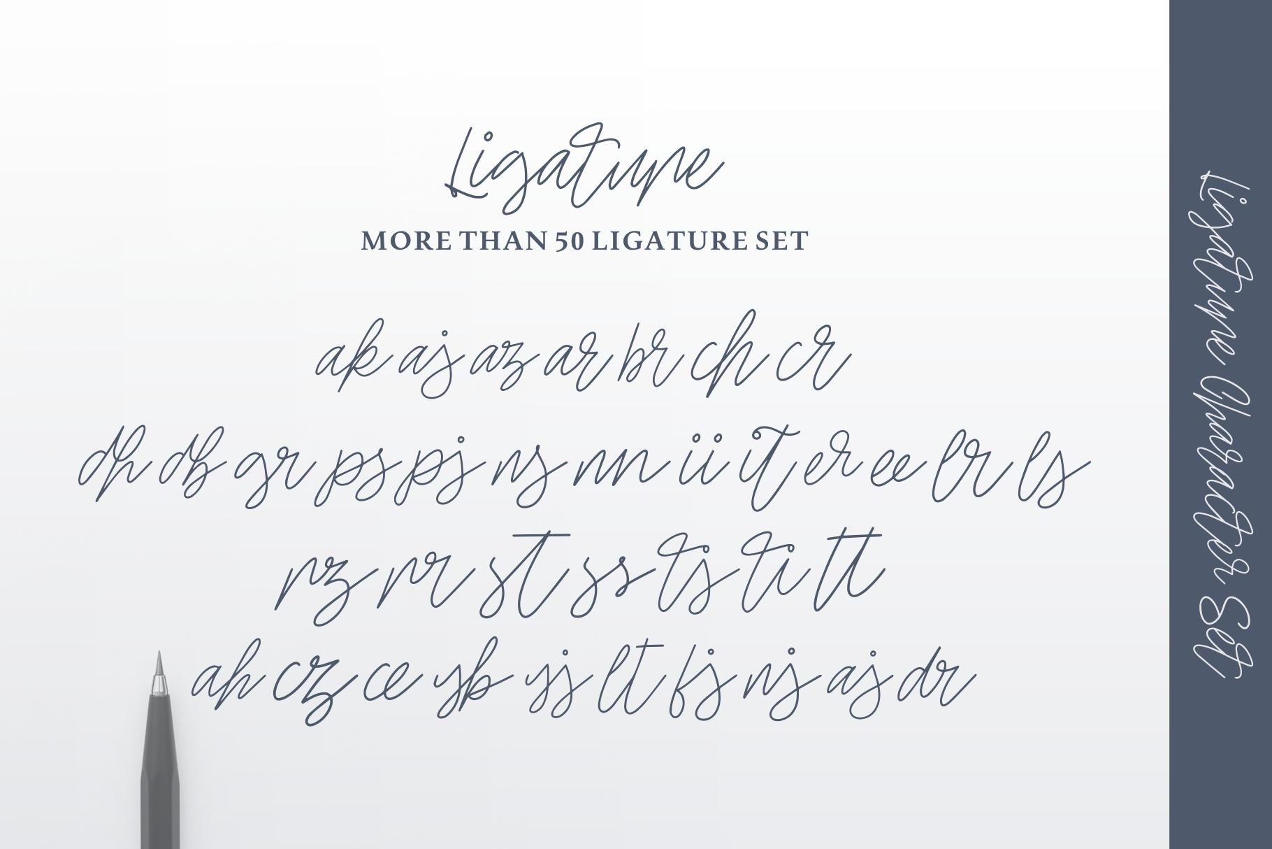 Ellaine Monoline Signature Font example image 5
