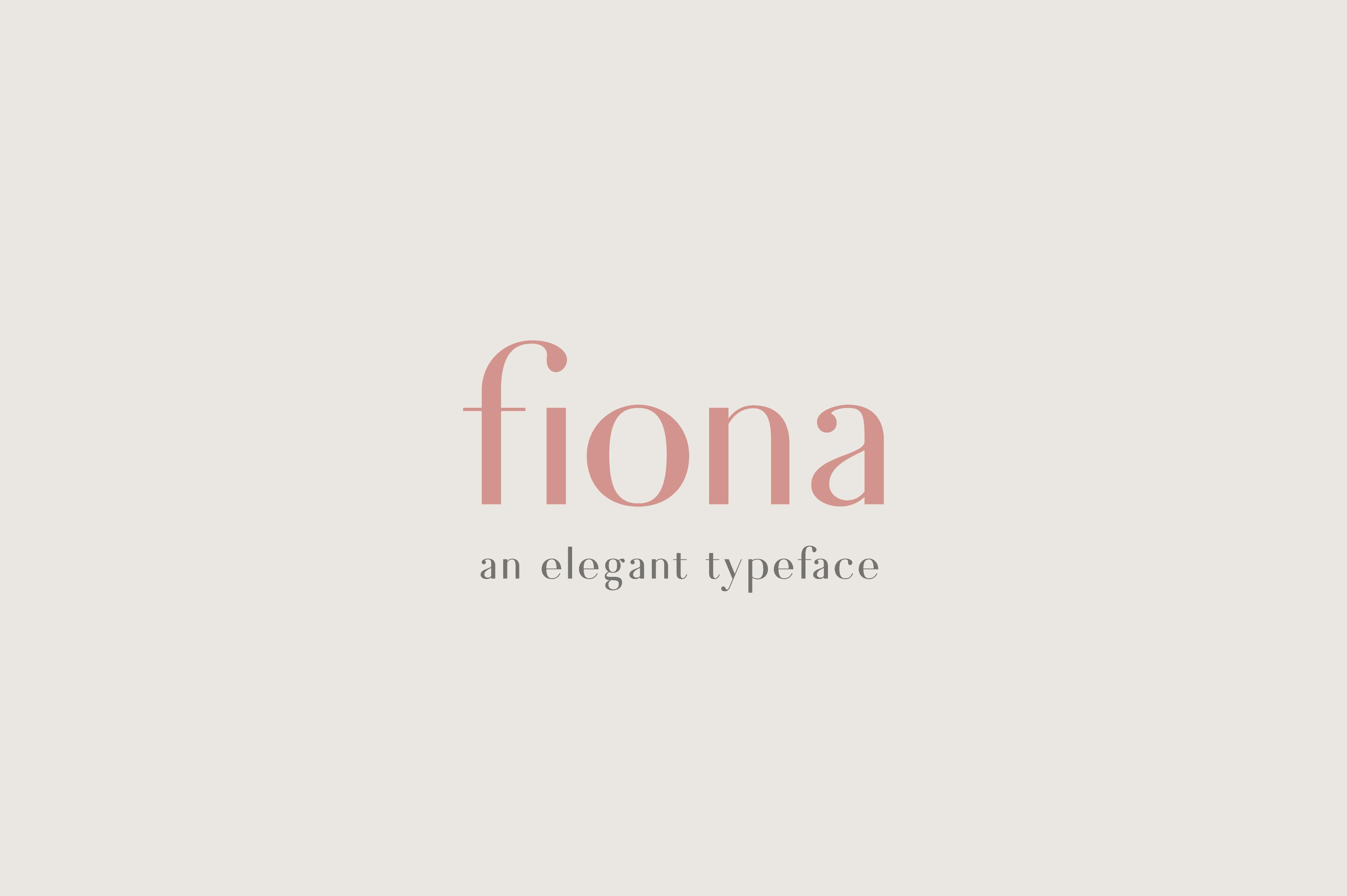 Fiona - An Elegant Typeface example image 1