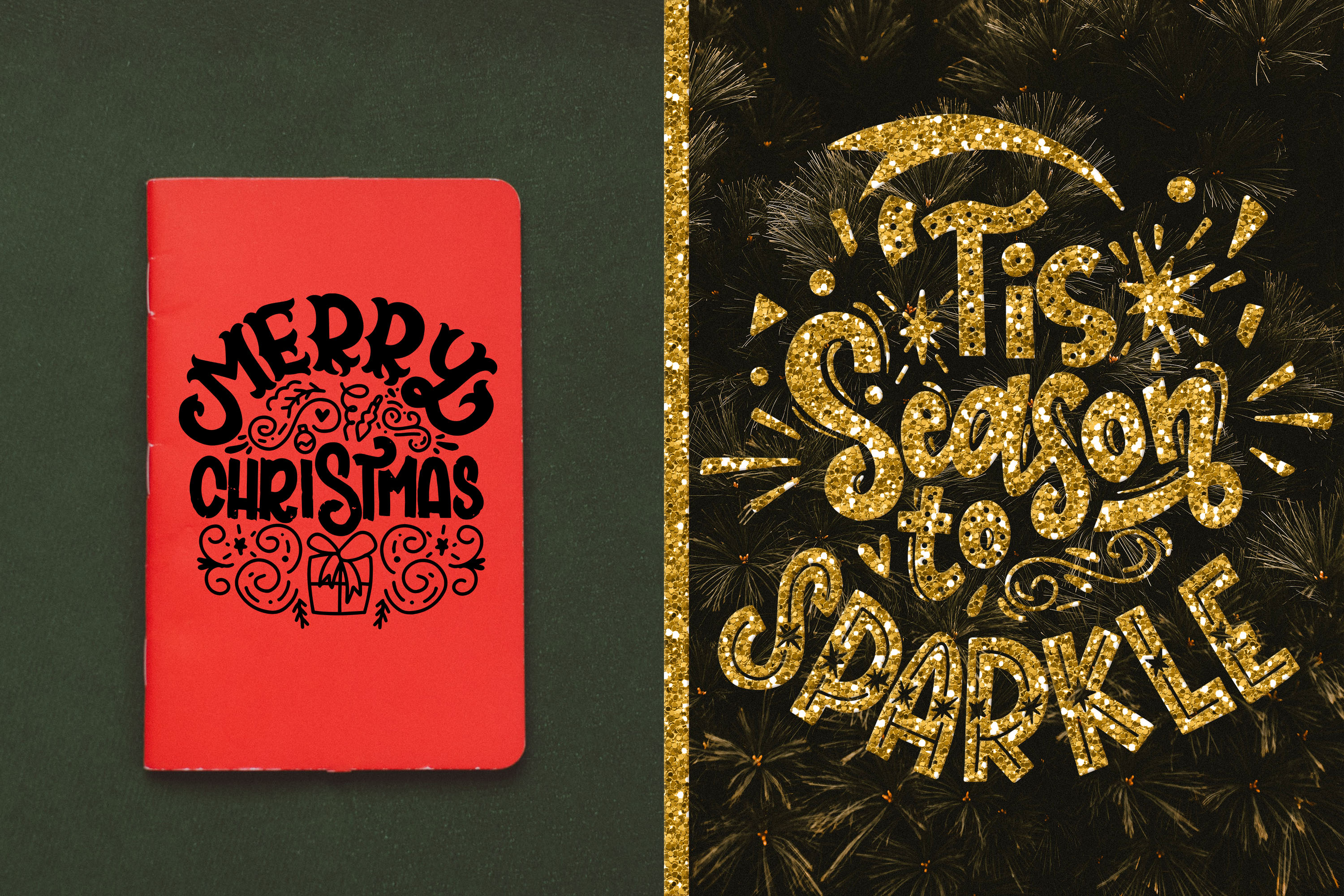 Christmas svg BUNDLE BIG set of 60 quotes example image 6
