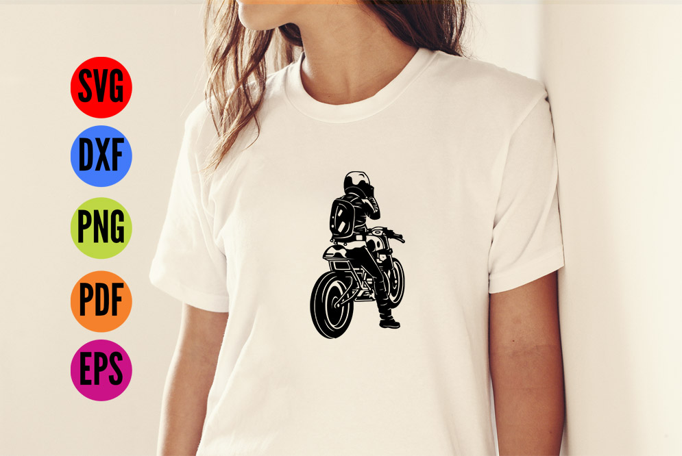 Motorbike SVG Cutting File  example image 2