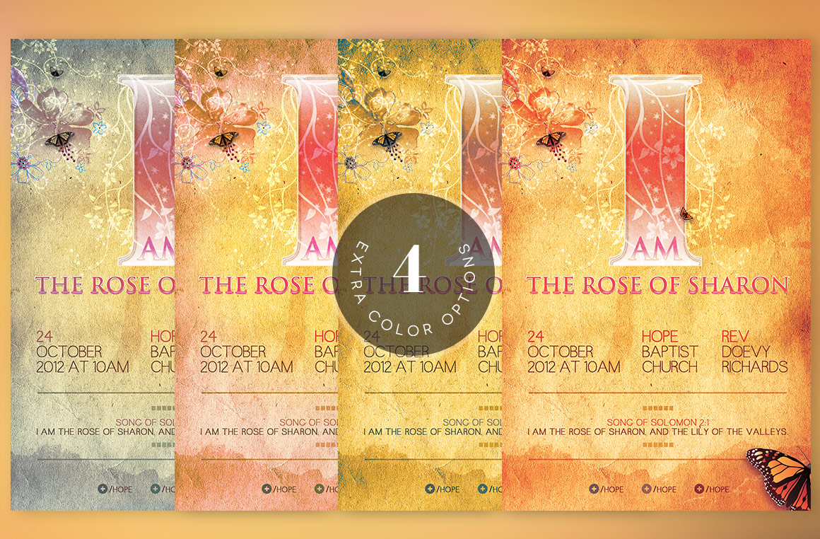 Rose of Sharon Church Flyer Template example image 6