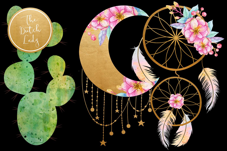 Enchanted Boho Desert Clipart Set example image 5