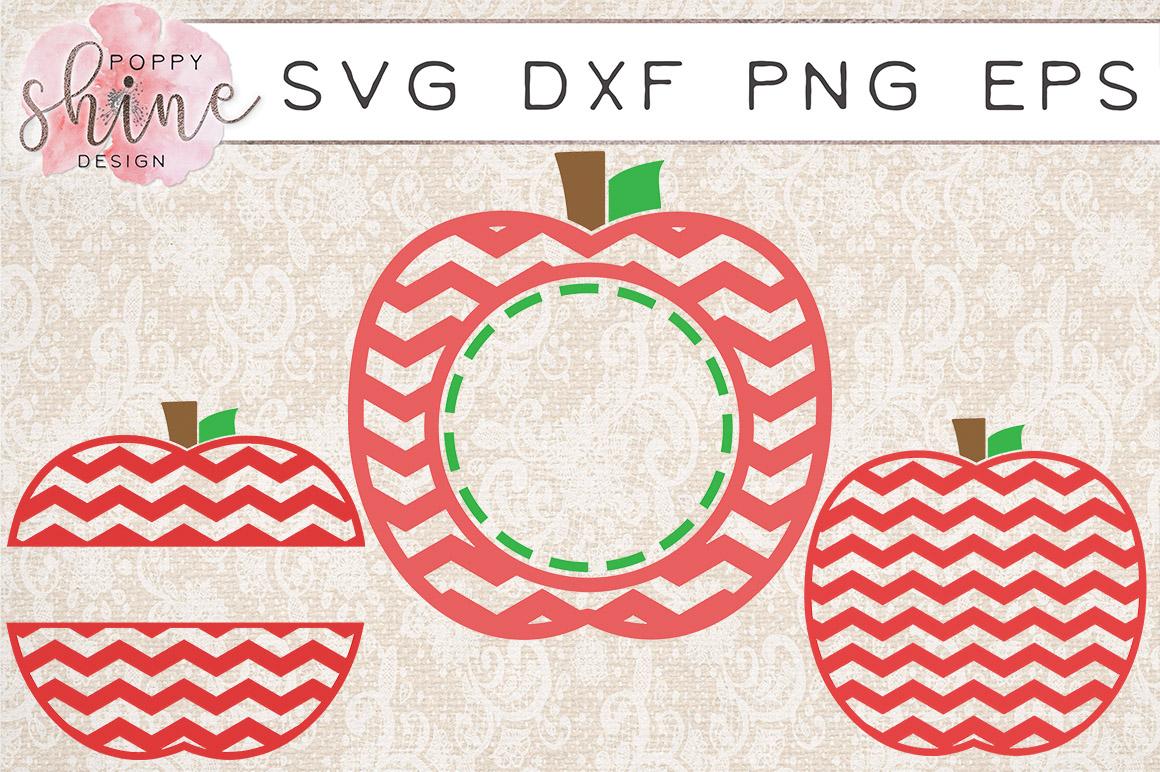 Apple Monogram Frame Bundle of 6 SVG PNG EPS DXF Cutting Files example image 3