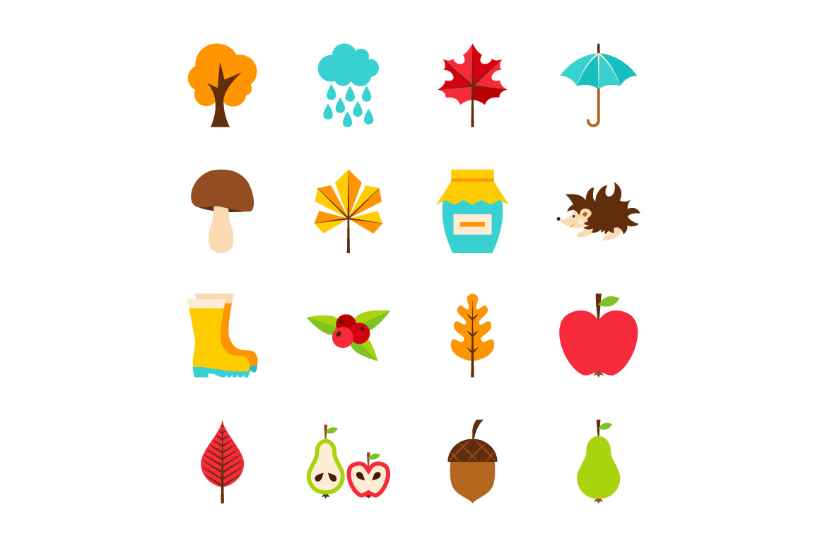 Autumn Flat Icons example image 2