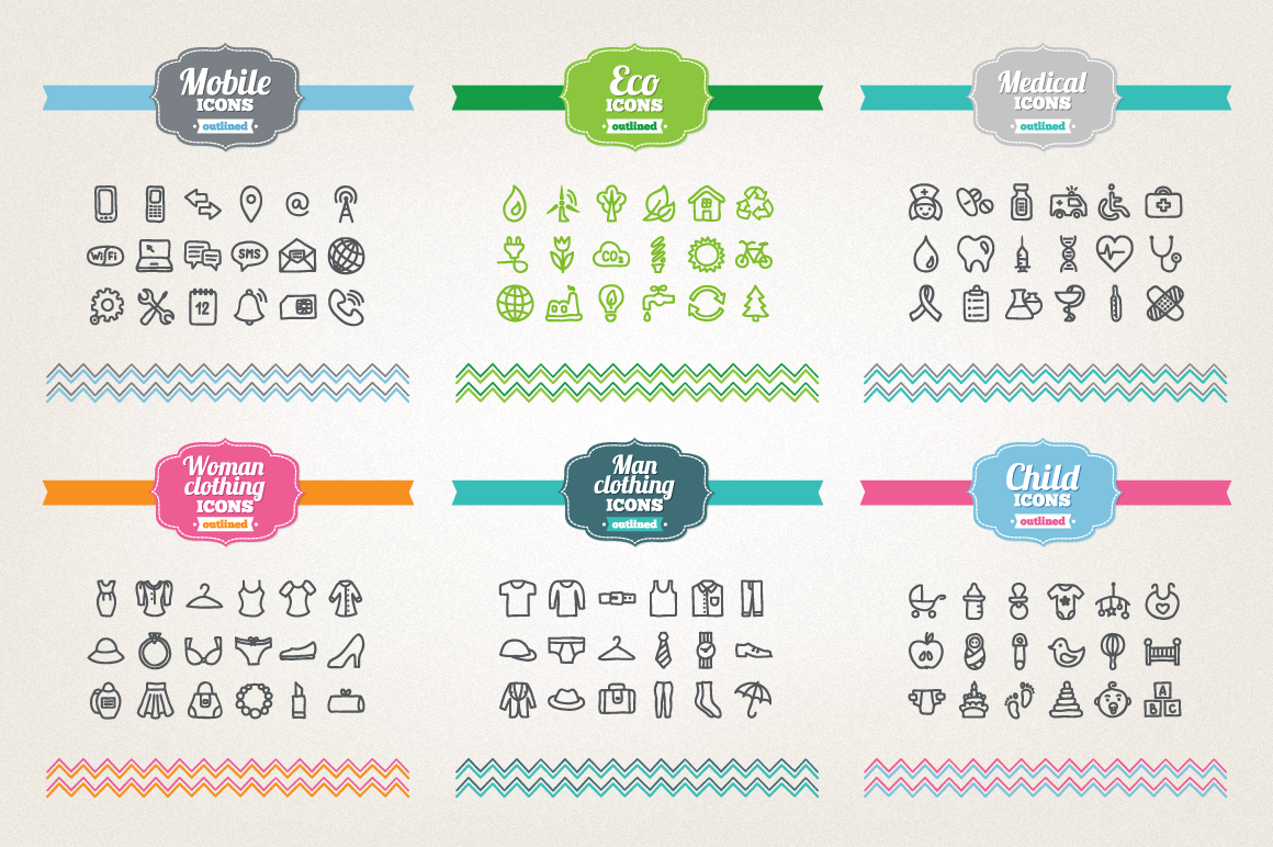 83 Off - Hand Drawn Icons Bundle example image 3