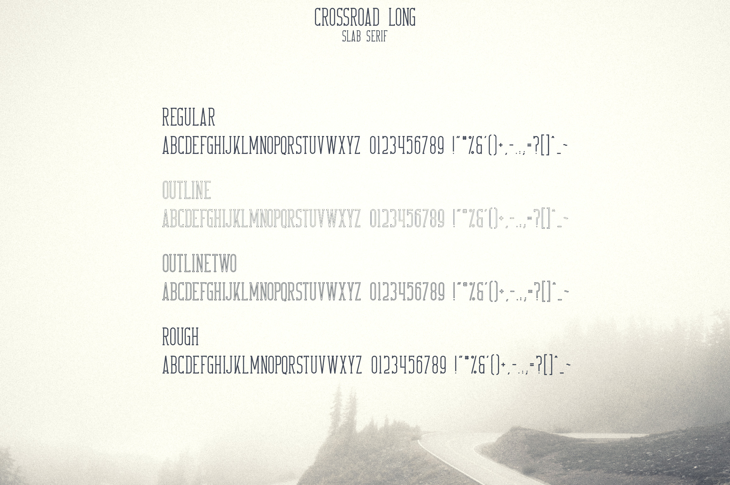 Crossroad -Vintage typeface|16 fonts example image 12