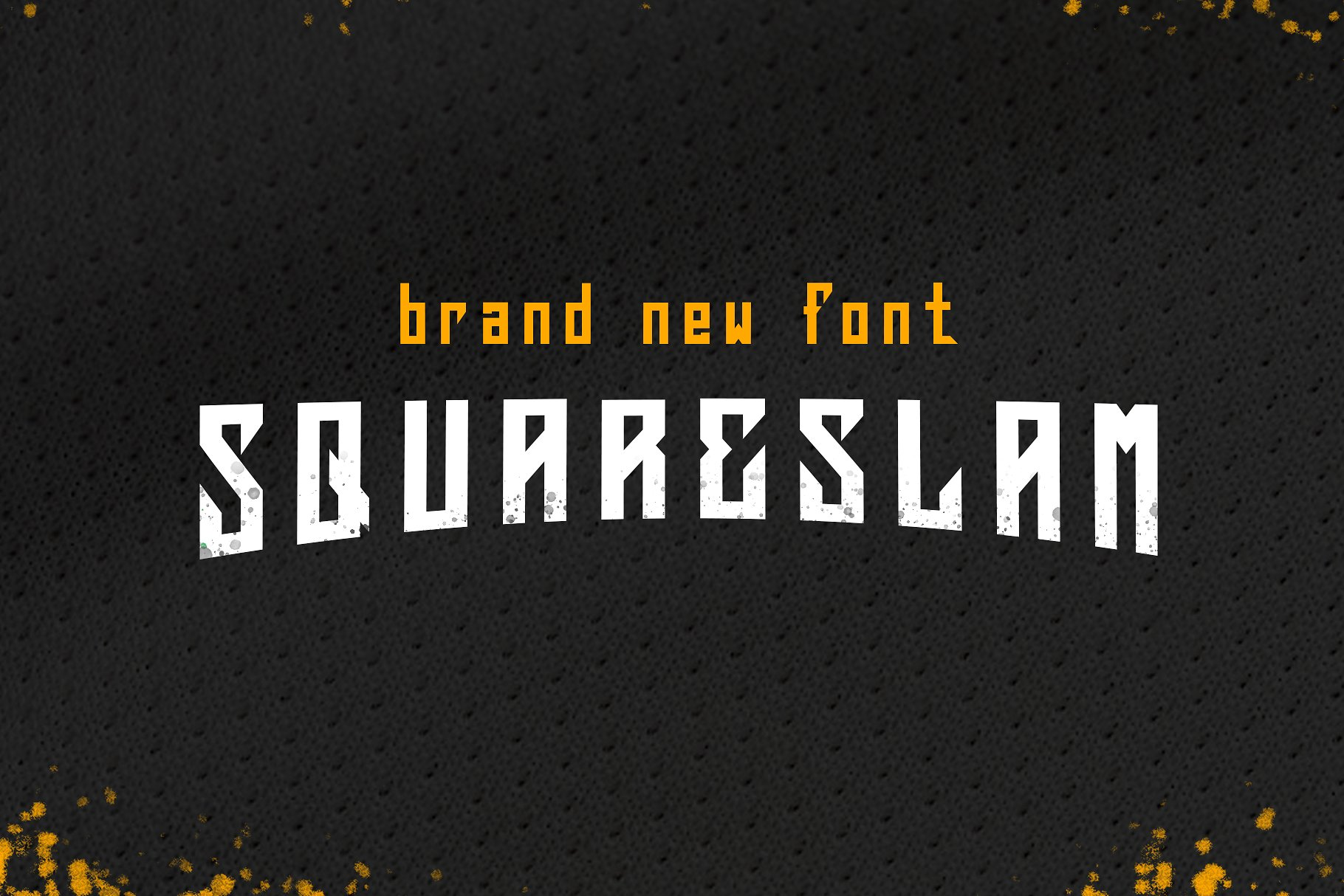 Squareslam sports and esports font example image 1
