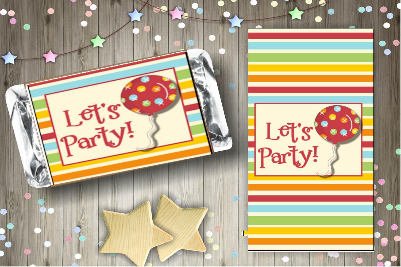 Rainbow Birthday Candy Bar Wrapper Set example image 3