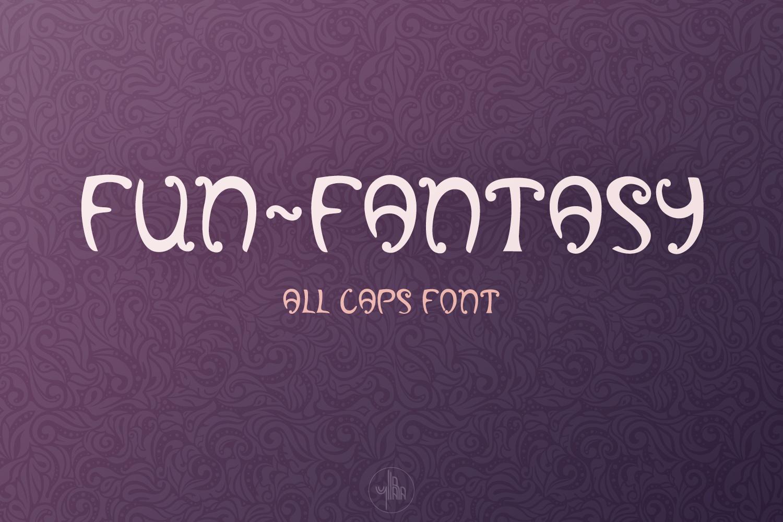 Fun-Fantasy - all caps display font example image 1