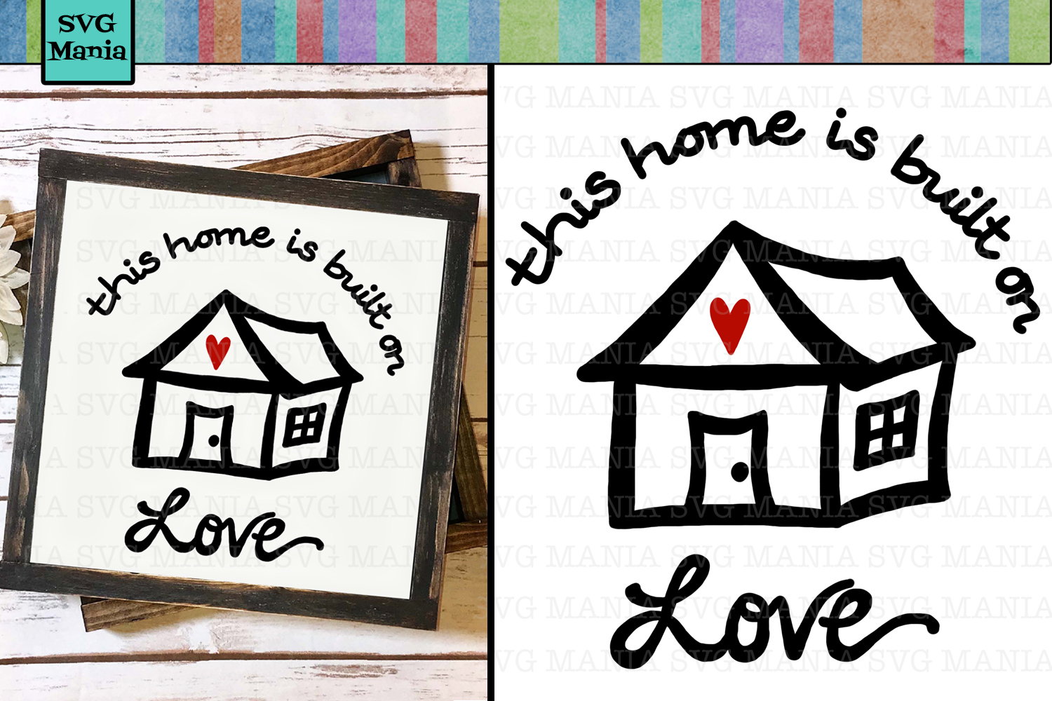 House Quote SVG File, Family Quote SVG, Wood Sign SVG, SVG example image 1