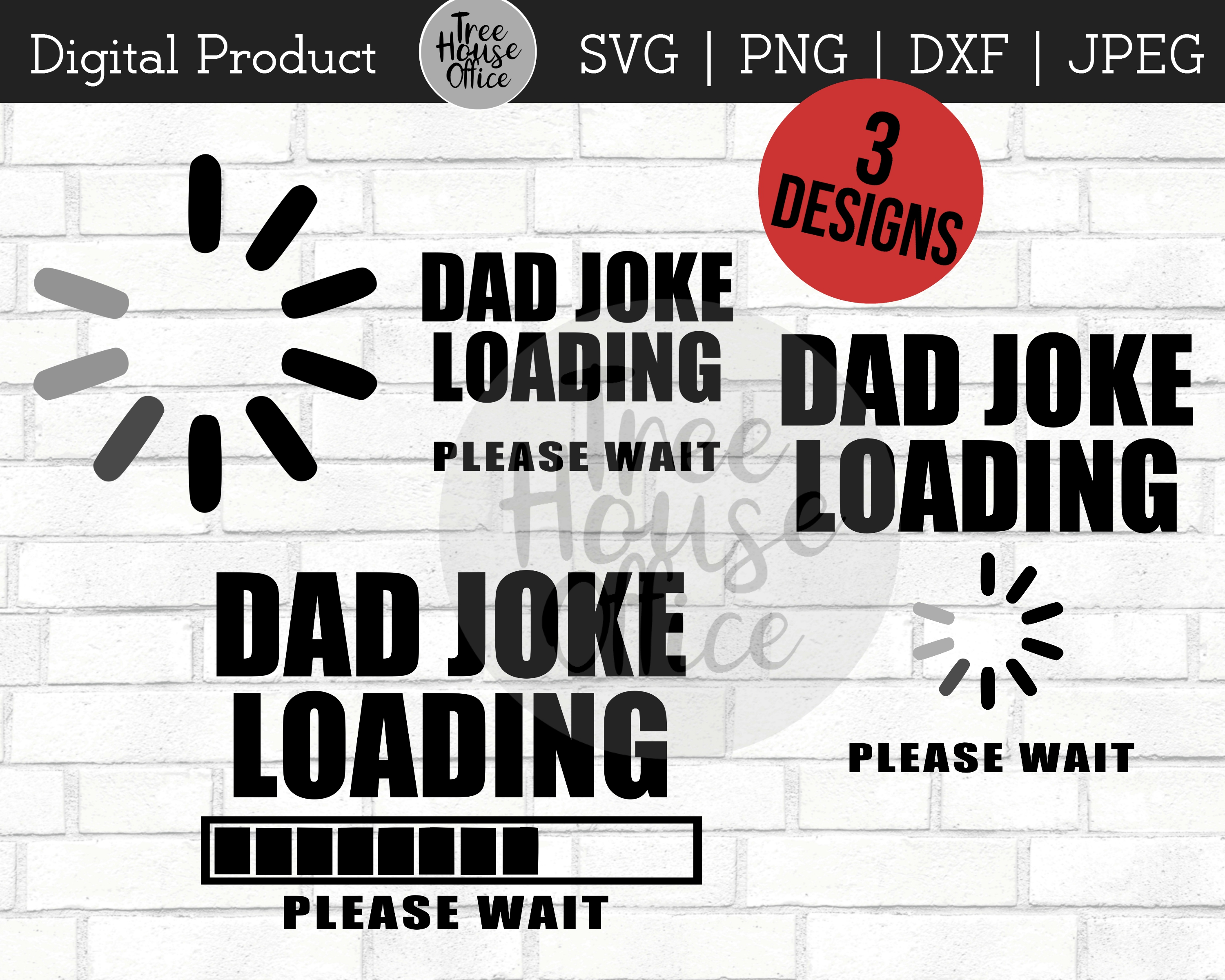 Dad Joke Loading Funny Father's Day SVG PNG Digital Cut File example image 5