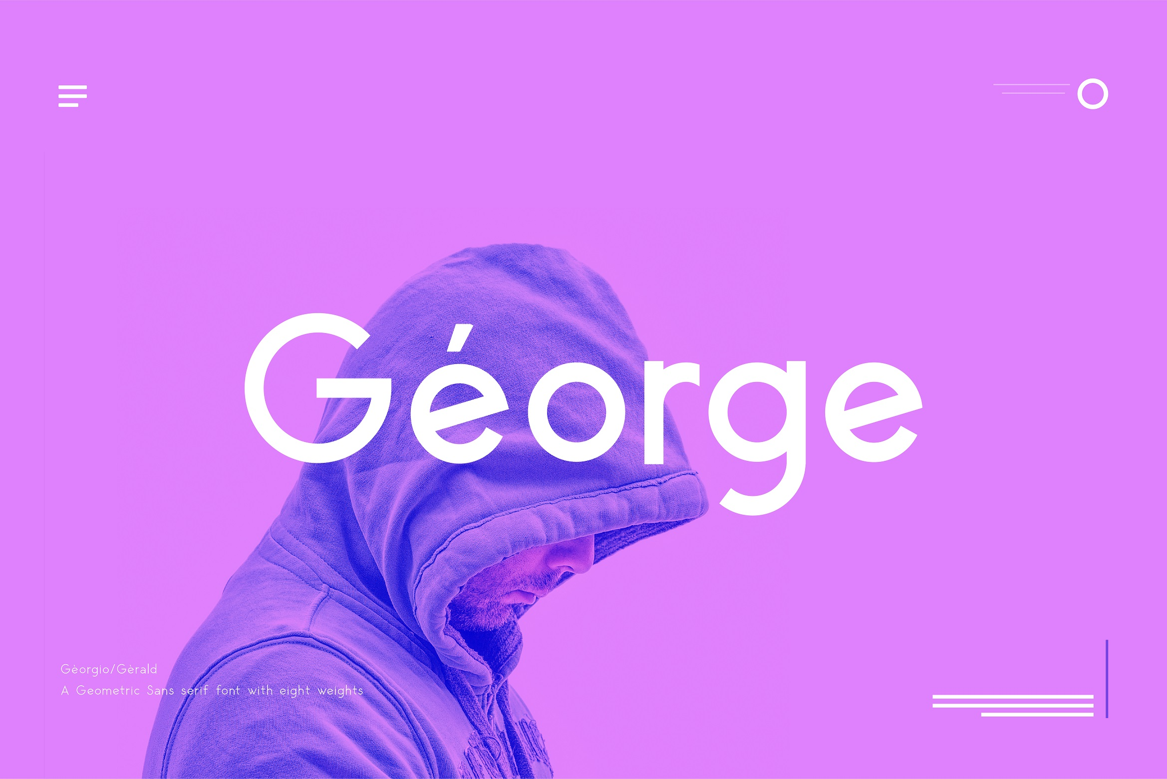 George Sans - 8 Fonts Geometric Typeface example image 2