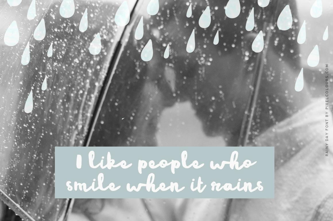 Rainy Day Brush Font example image 2