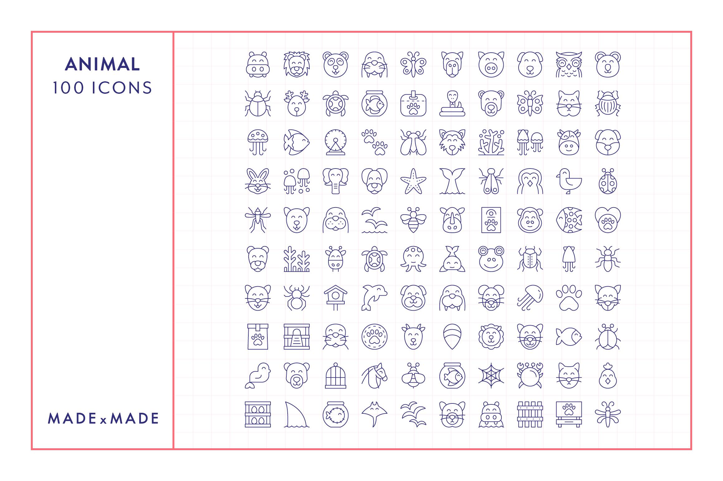 Line Icons - Animals example image 6