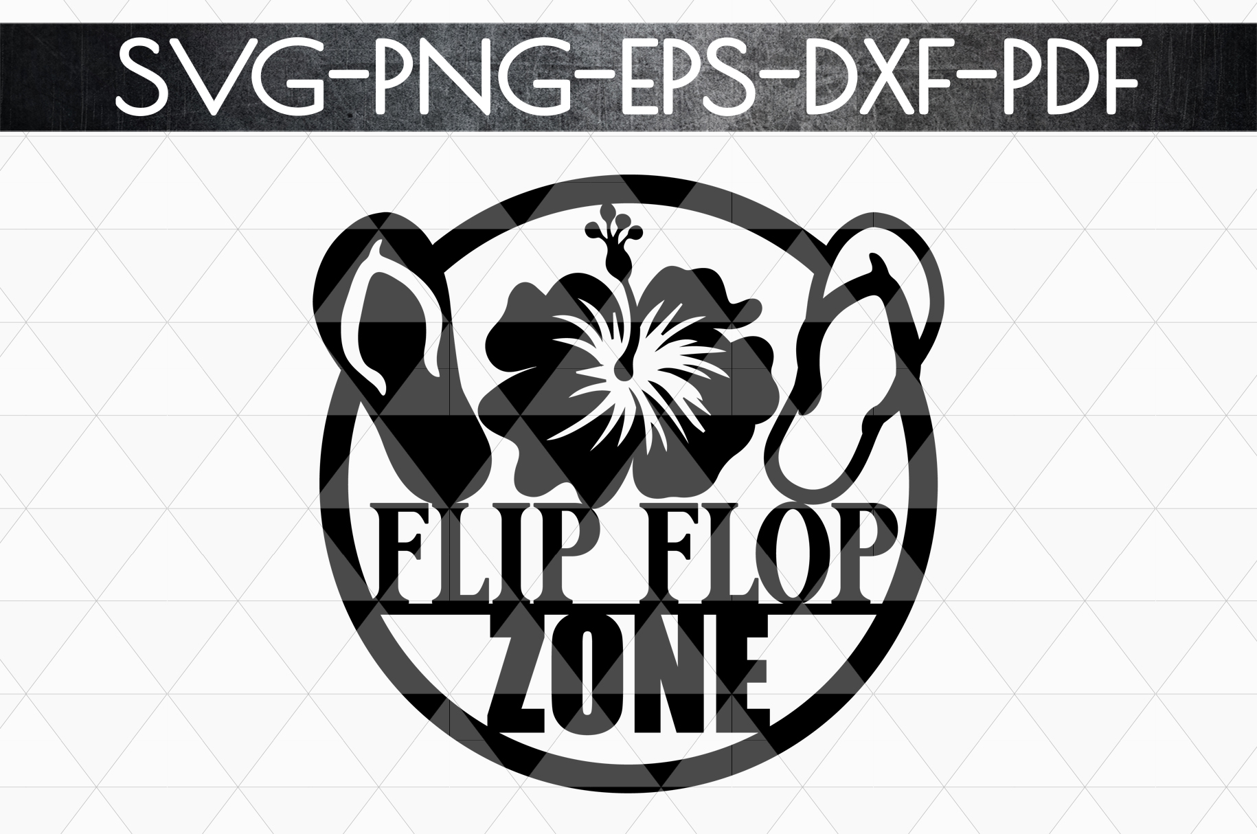 Flip Flop Zone Papercut Template, Beach House Decor SVG, DXF example image 4