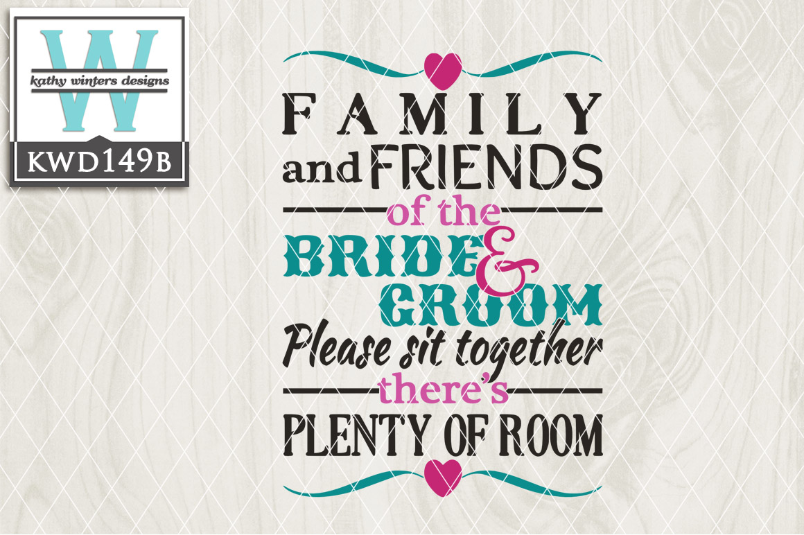 Wedding Cutting File Kwd149b 17110 Cut Files Design Bundles