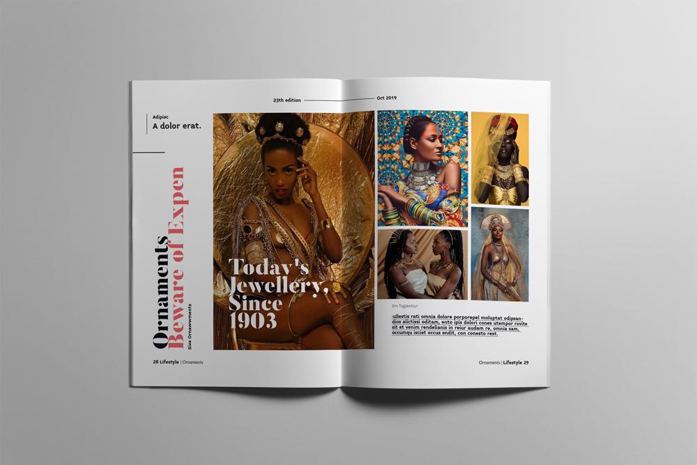 Fashion Magazine Layout Template example image 15