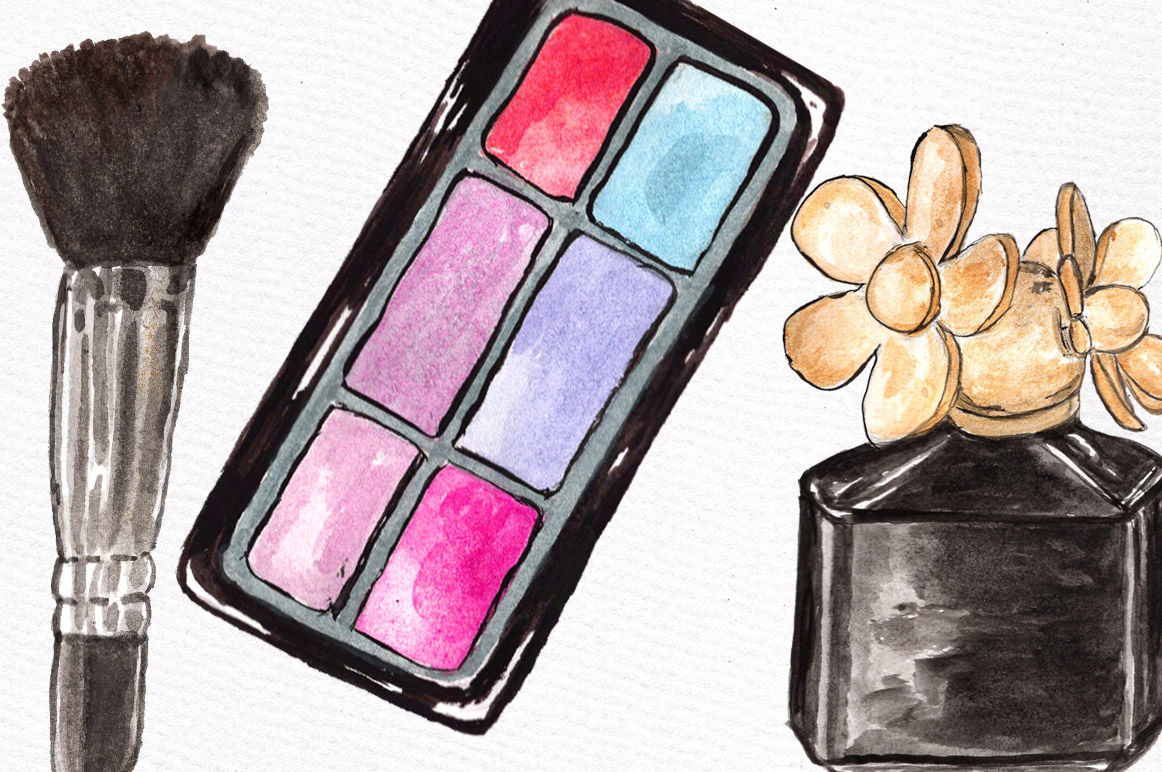 Watercolor makeup set example image 4