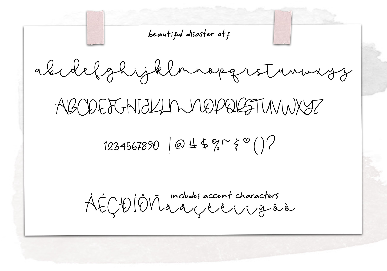 Beautiful Disaster Script - Handwritten Font example image 9
