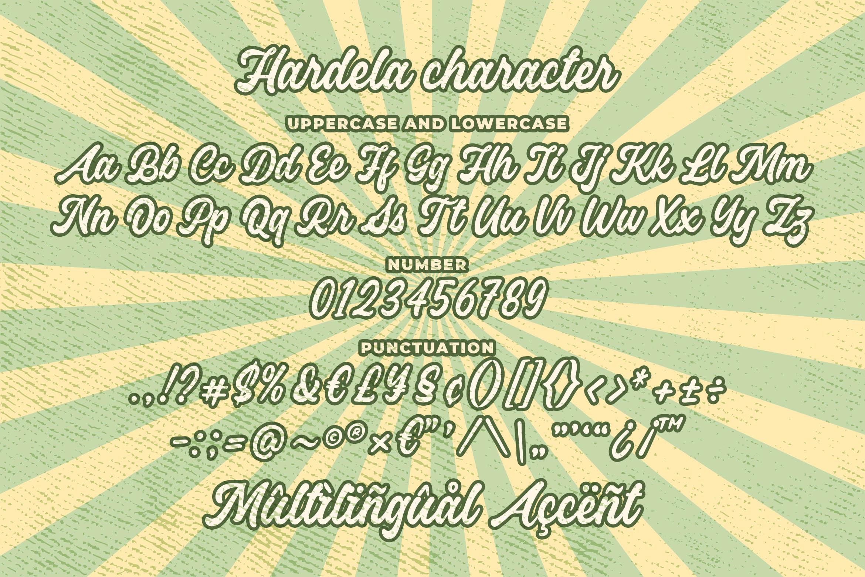 Hardela - Retro Script Font example image 4