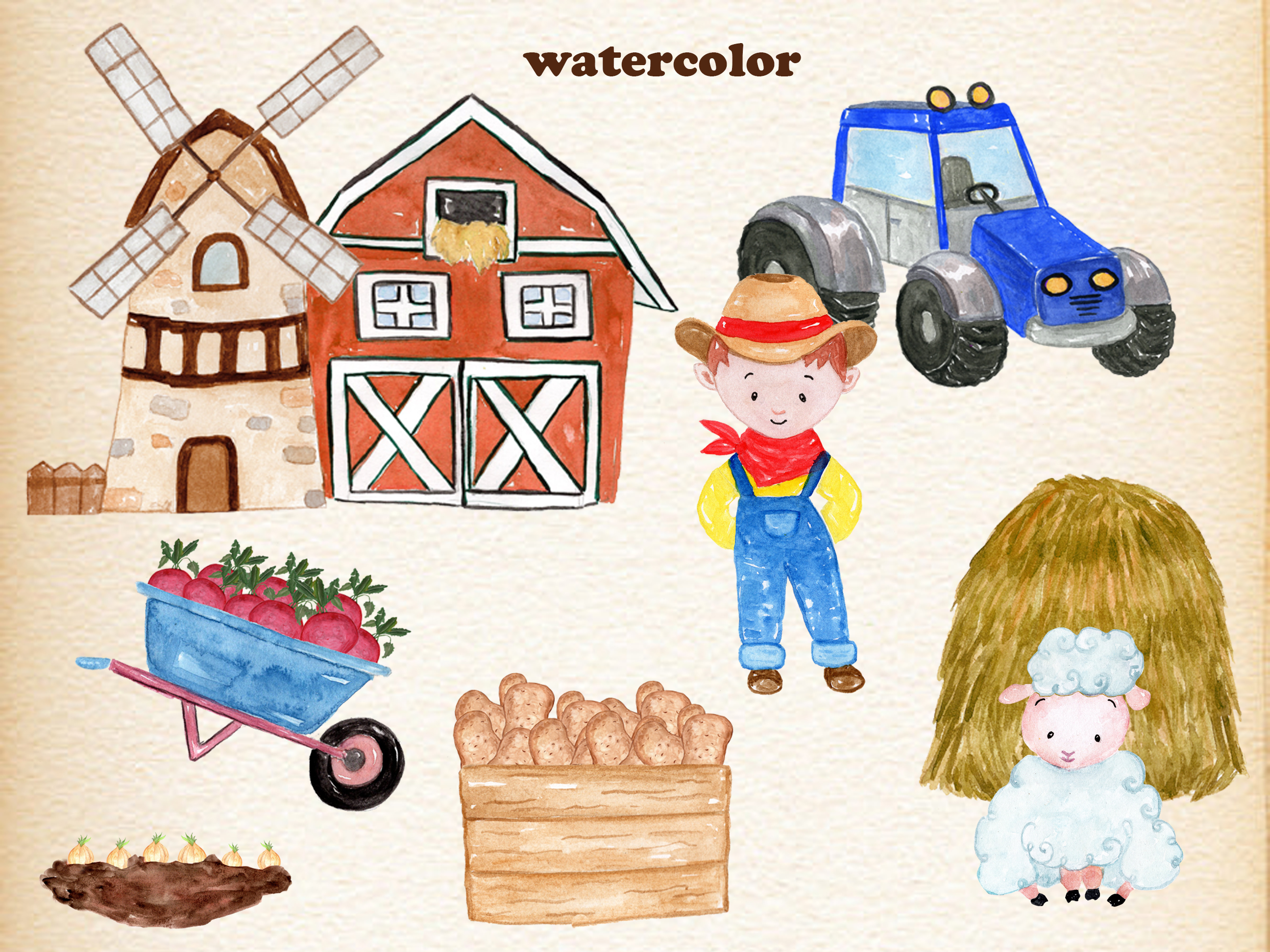 Farm Animals Clipart example image 3