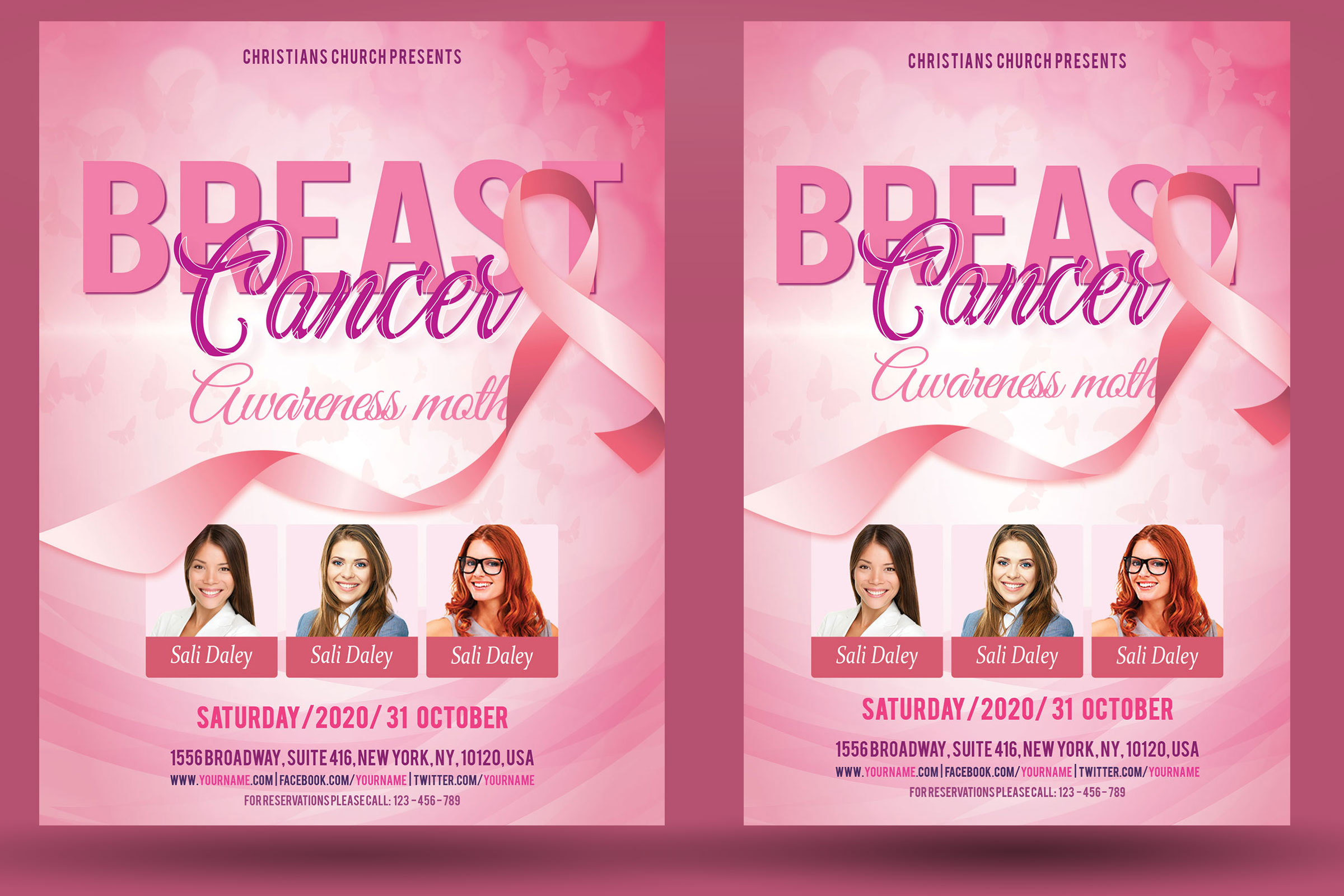 Breast Cancer Flyer example image 2
