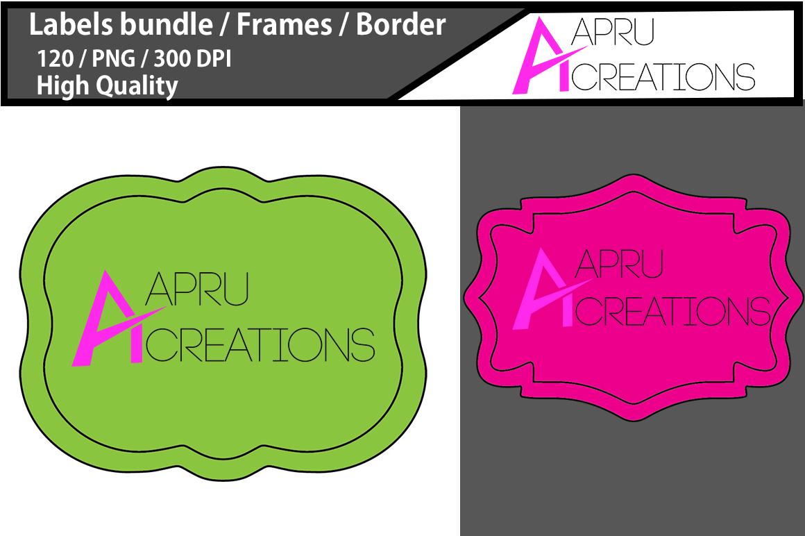 Label frames clip art design / label high quality 120 / frames / borders / high quality designs / hand drawn frames / commercial use example image 2