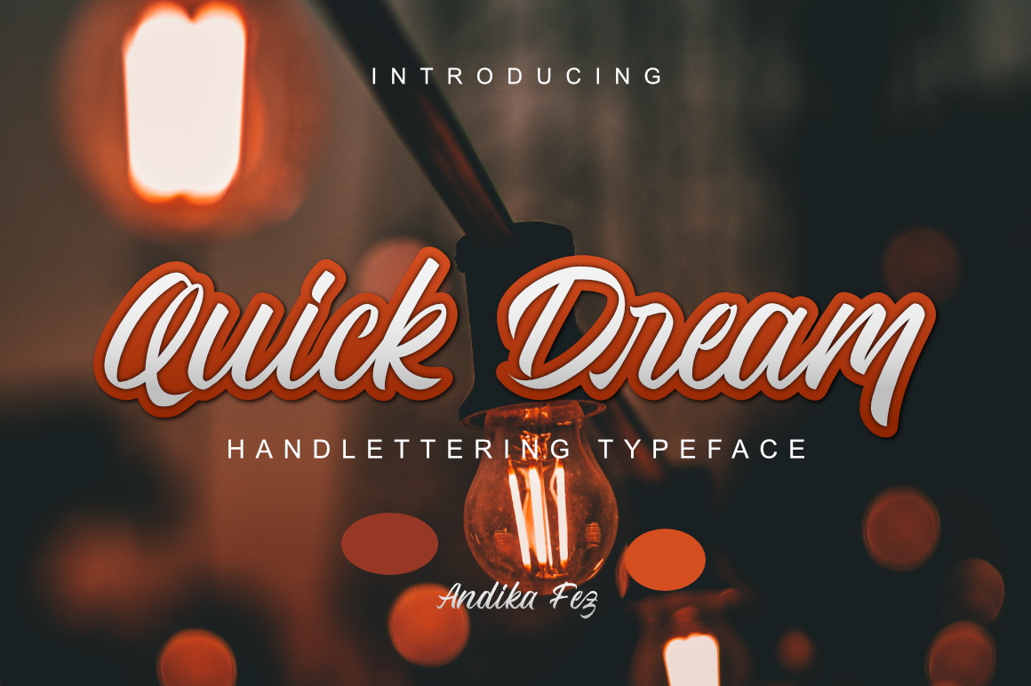 Quick Dream Font example image 1