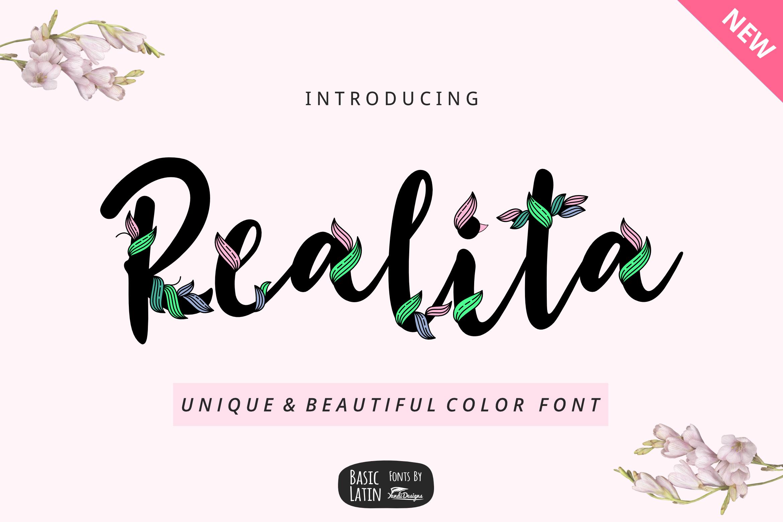 Realita Color Font example image 1