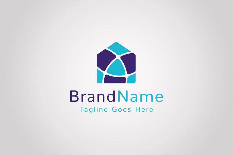 Global Network House Logo example image 1