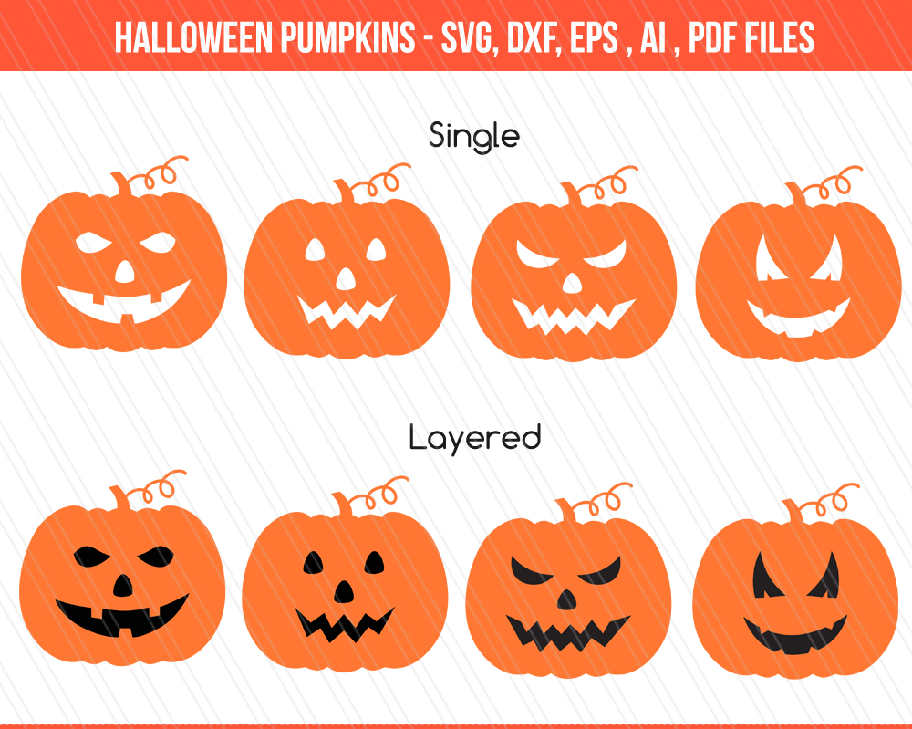 Pumpkin Monogram svg/dxf cutting files example image 1