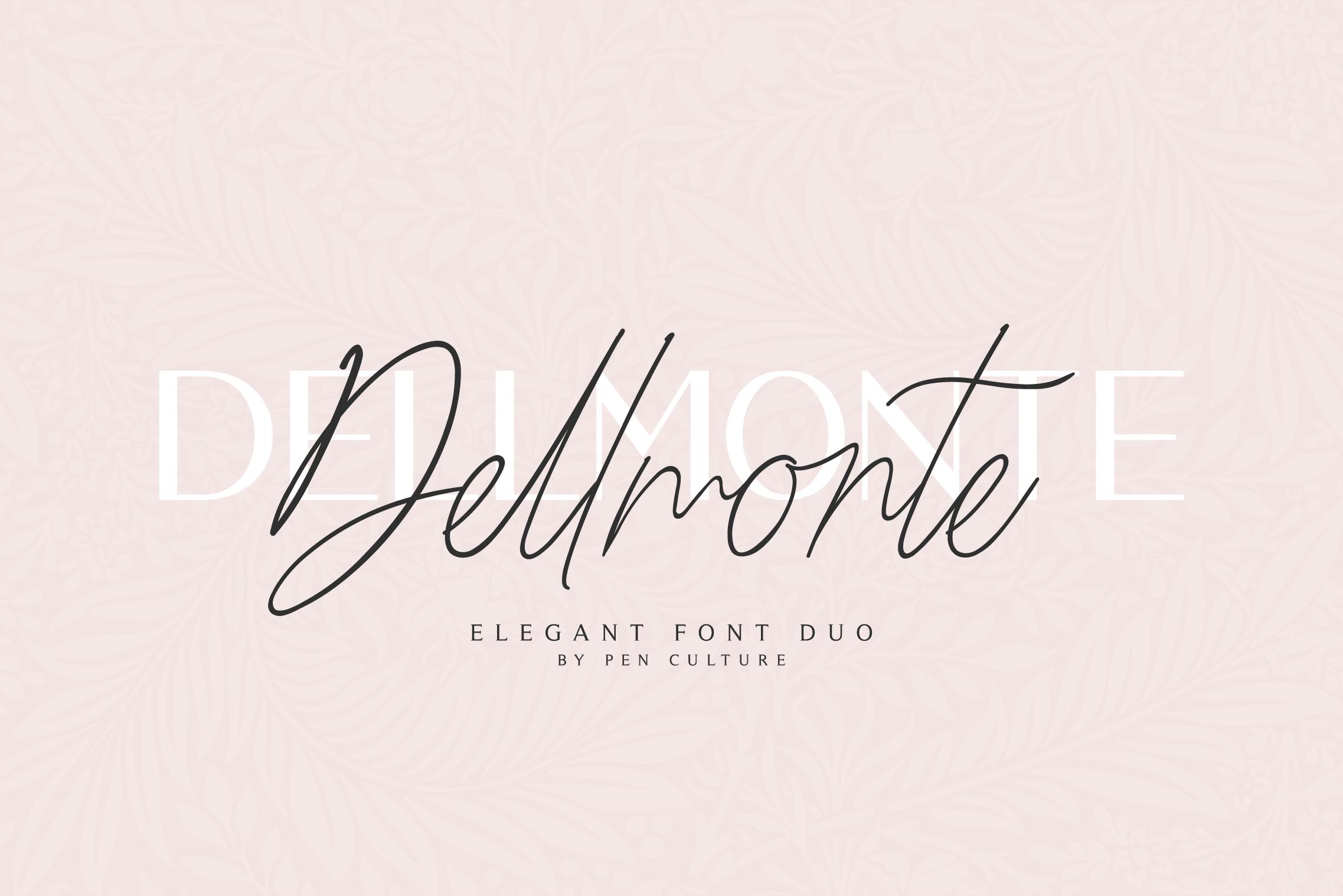 Dellmonte - Elegant Font Duo example image 8