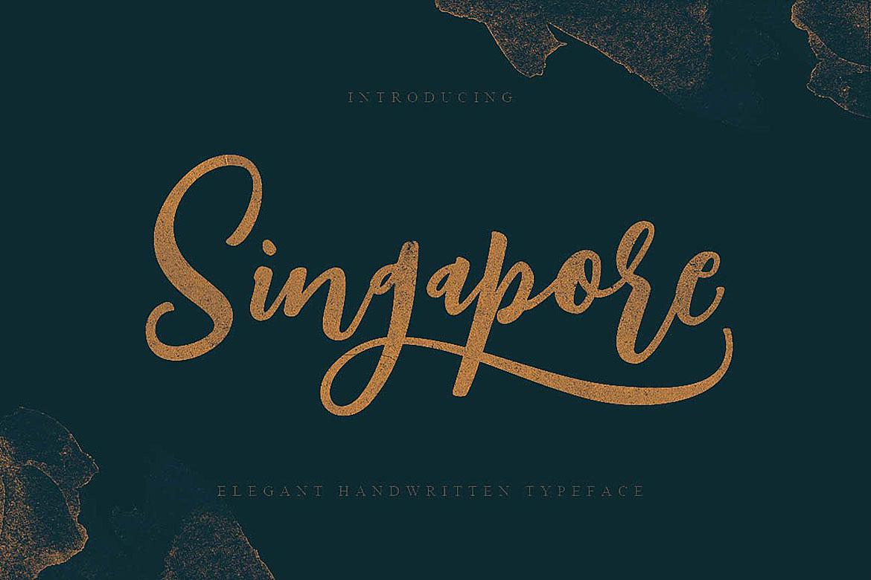 Singapore Script Font example image 5