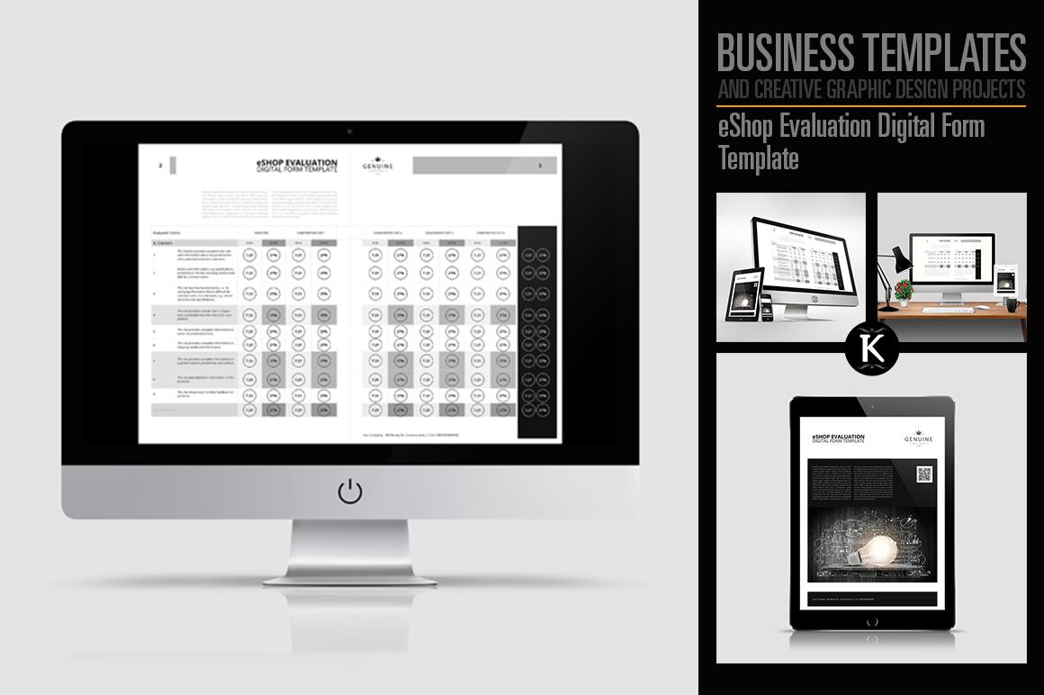 eShop Evaluation Digital Form Template example image 1