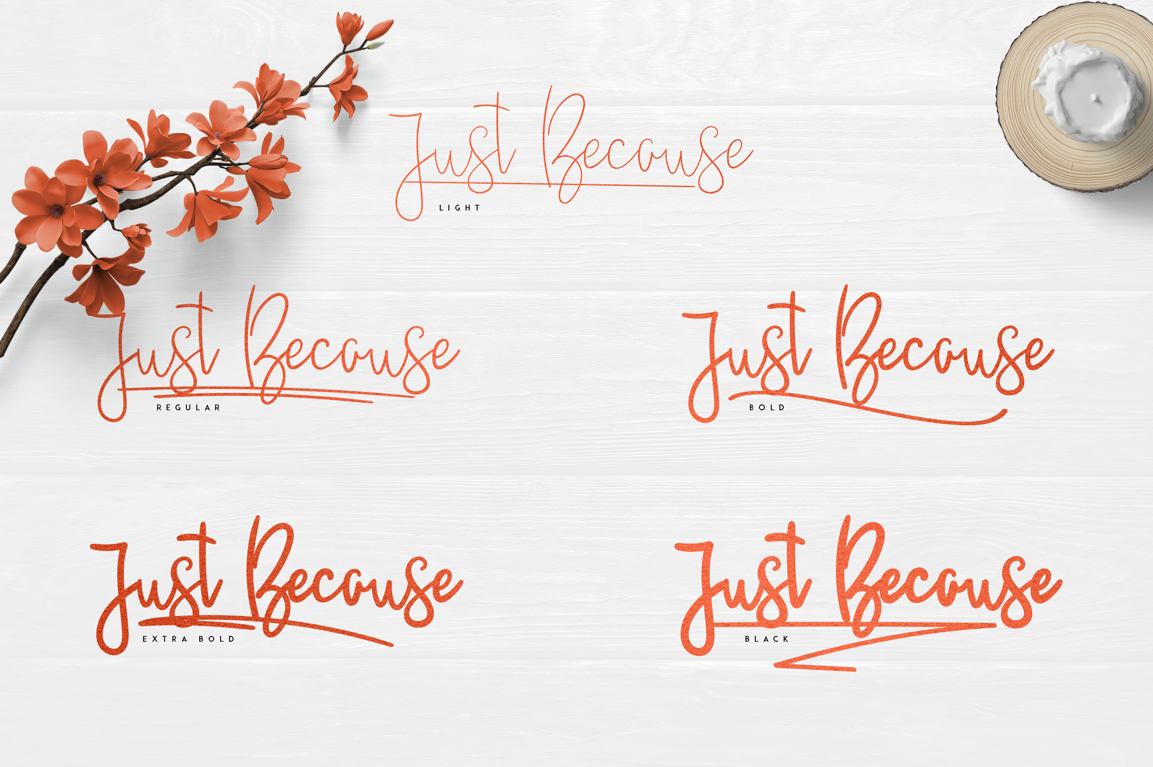 JustBecause font family example image 2