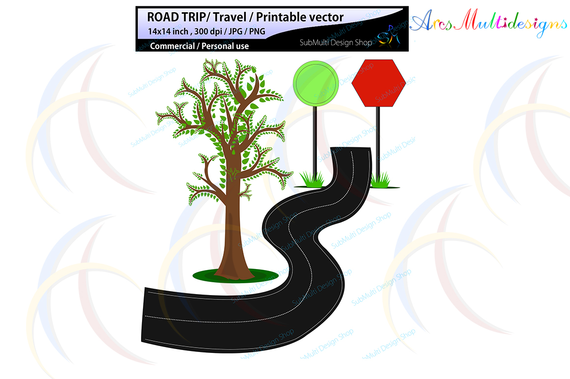 hand drawn clipart svg / summer clipart svg / hand drawn Road Trip clipart svg / Commercial Personal use / cycle clipart / signals / isolated clipart example image 4