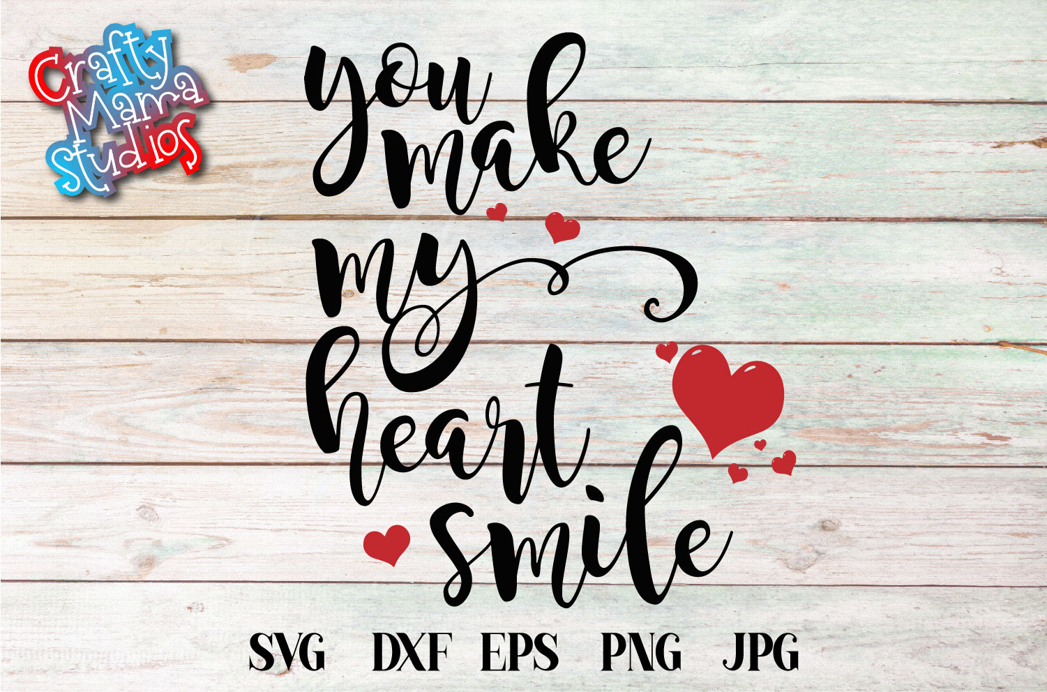You Make My Heart Smile SVG, Wedding, Love Sublimation example image 2