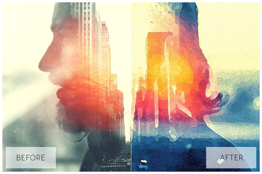 Lovely Watercolor Effect | Photoshop Actions example image 29