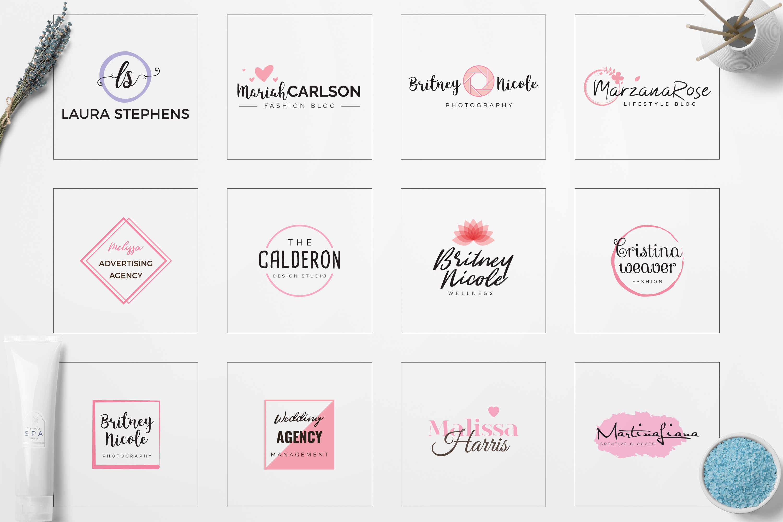 Feminine Minimal Branding Logo Pack example image 3