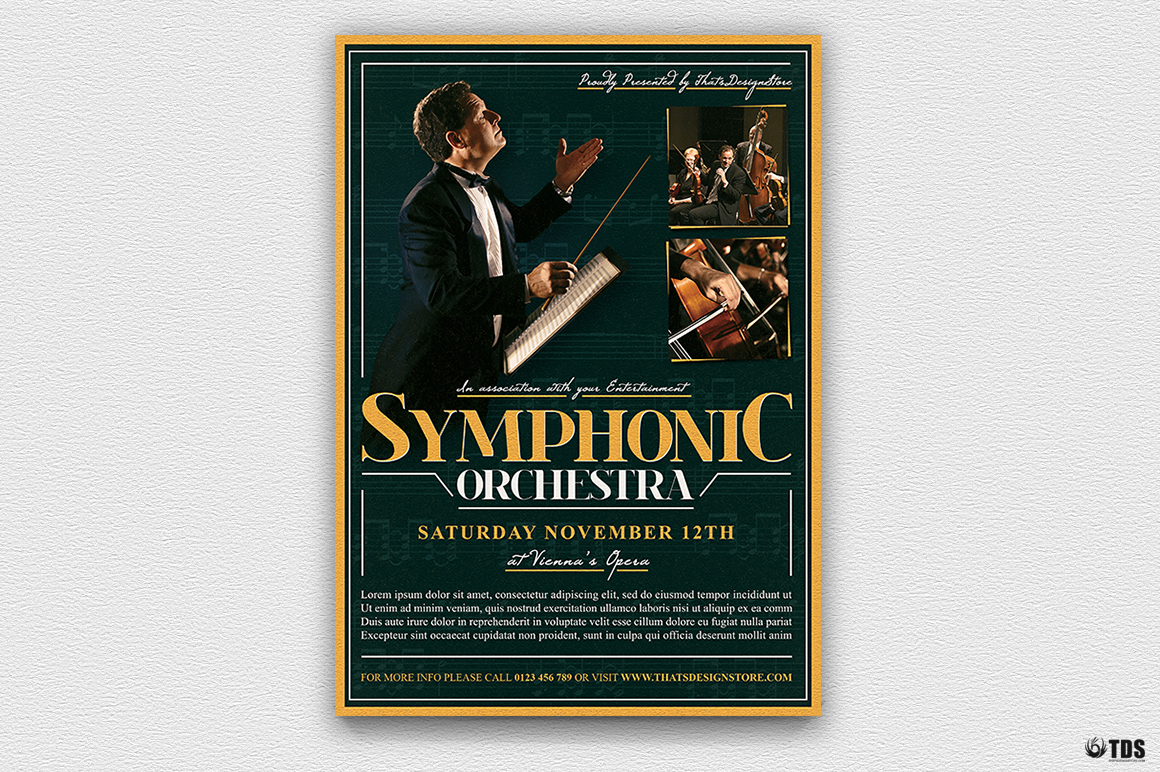 Symphonic Orchestra Flyer Template V2 example image 3