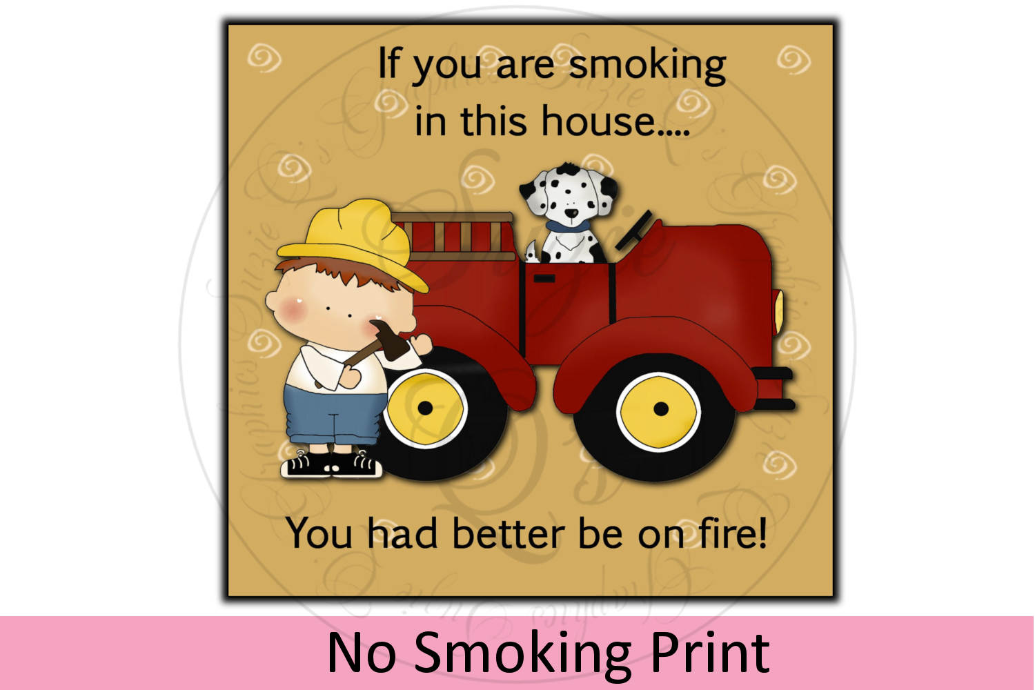 No Smoking Print example image 1