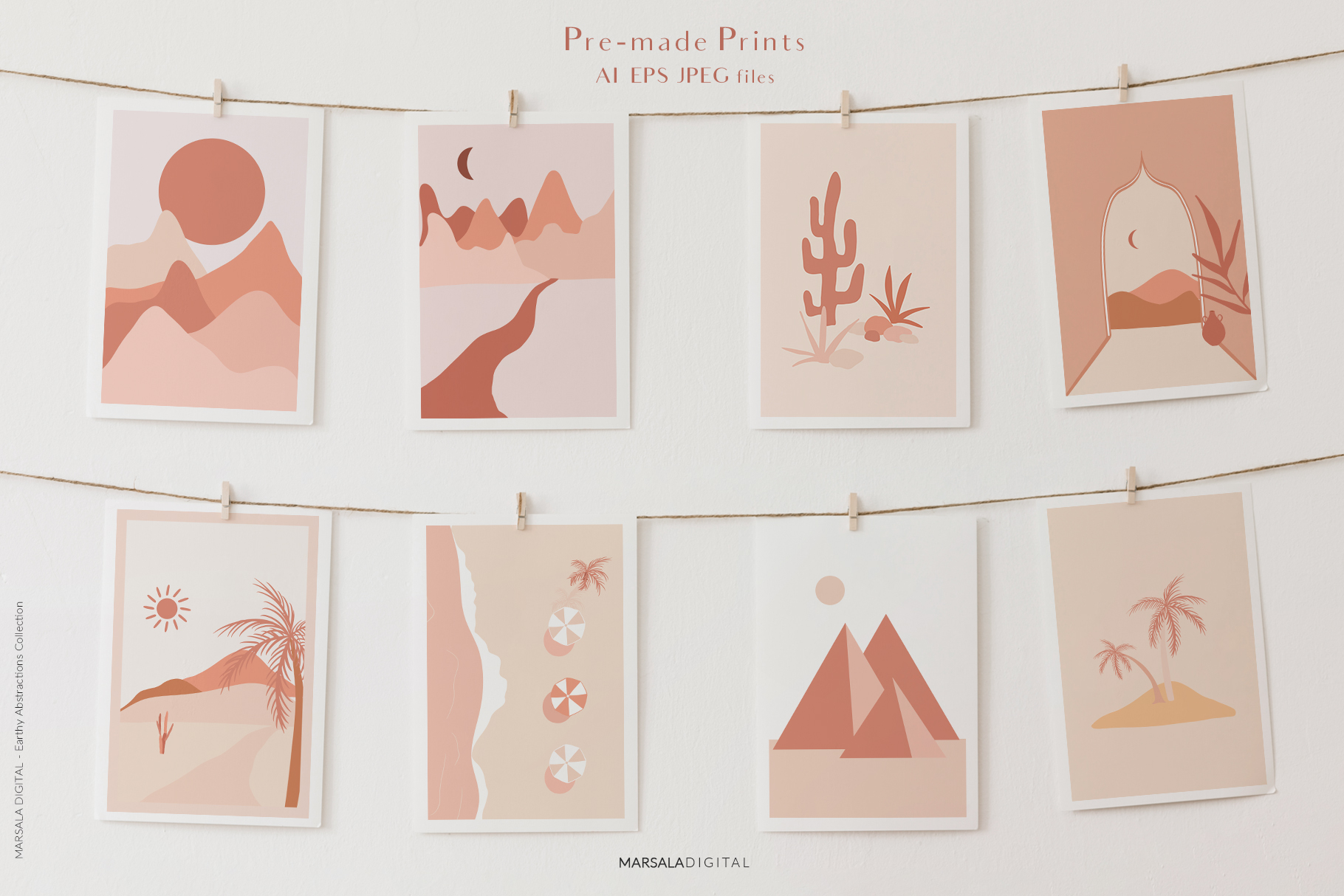 EARTHY Abstractions & Prints Celestial, Desert, Bohemian example image 2