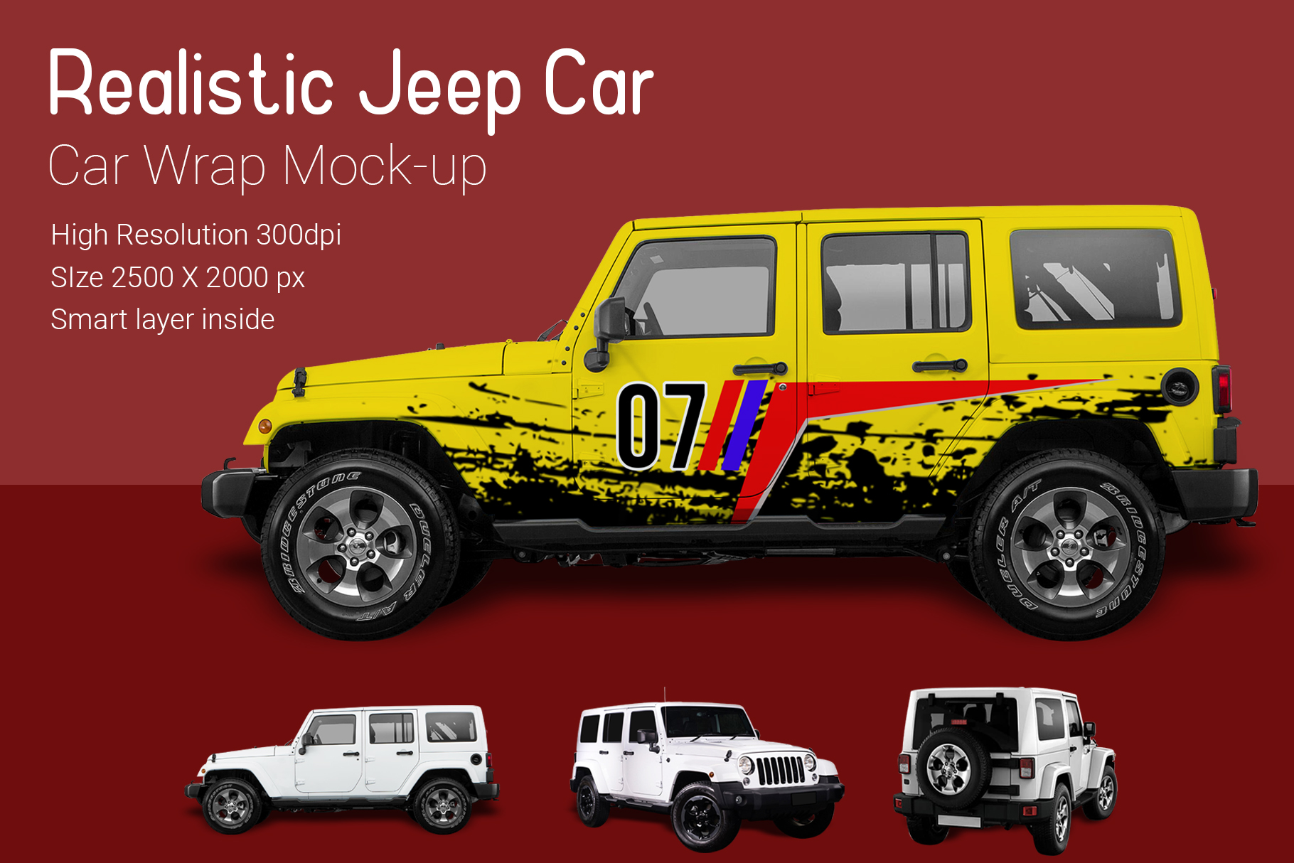 Jeep Car Mock-Up example image 1