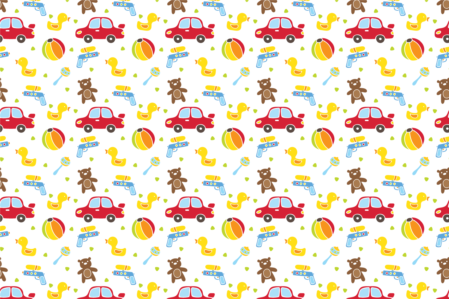 Cute baby toys seamless pattern example image 5