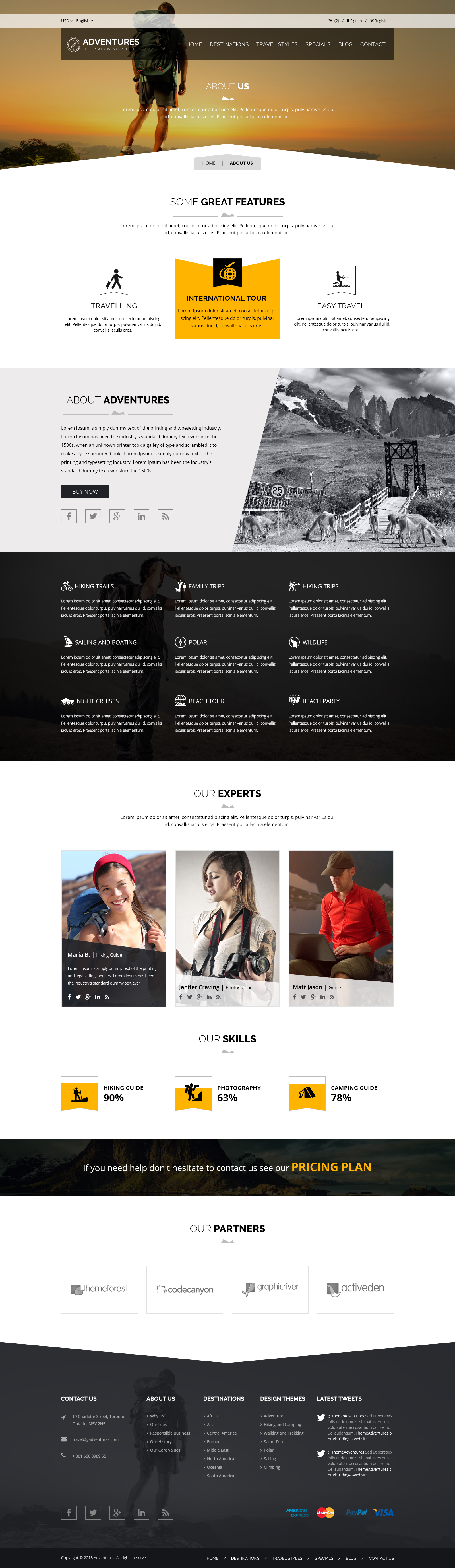 Adventures and Tour PSD Template example image 5